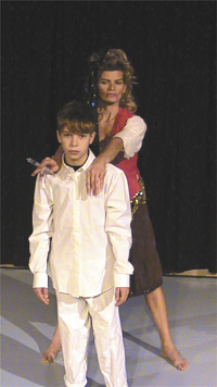 barrett barnes as 10 year old tommy with rachel deegan as the acid queen